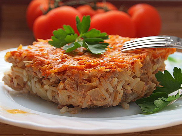 meat casserole with vegetables